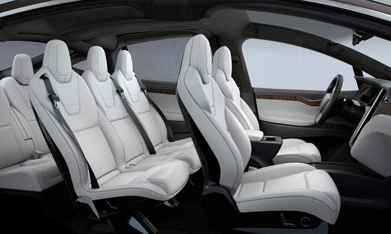 Tesla Model X Interior Seating